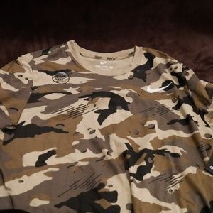 Nike  Camo Shirt Dri- Fit